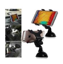 Универсална стойка за стъкло за смартфони и GPS навигации до 6 инча