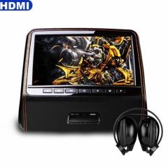 Подглавник за кола HD9PCHBlack 9 инча СЪС СЛУШАЛКИ HD TFT Монитор, HDMI, DVD, USB