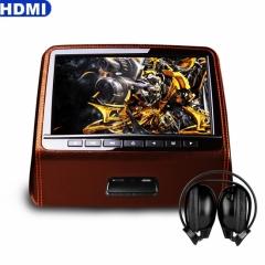 Подглавник за кола HD9PCHBrown 9 инча СЪС СЛУШАЛКИ HD TFT Монитор, HDMI, DVD, USB