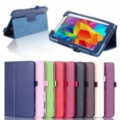 Кожен калъф за таблет Samsung Galaxy Tab 4 - 7 инча (T230) ПАПКА + ПОДАРЪК ПИСАЛКА
