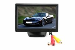 5 инча TFT LCD Монитор за камера за задно виждане с 2 видео входа