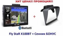 "GPS навигация за кола и камион Fly StaR X100BT - 7"" + Сенник"