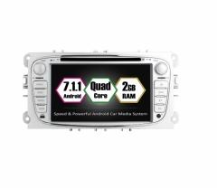 Навигация двоен дин FORD с Android 7.1 FO0702, GPS, WiFi, DVD, 7 инча