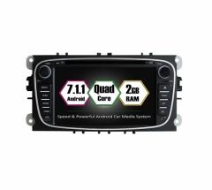 Навигация двоен дин FORD с Android 7.1 FO0701, GPS, WiFi, DVD, 7 инча