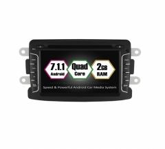 Навигация двоен дин DACIA с Android 7.1 RE0701, GPS, WiFi, DVD, 7 инча