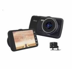 Видеорегистратор с две камери AT T600 с 4 инча дисплей 12mpx + 16GB карта