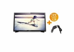 Портативен телевизор с цифров тунер Philips 22 инчa 12-220V