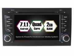 Вградена навигация двоен дин за Audi A4 с Android 7.1 AU0702 , GPS, DVD, 7 инча