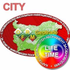 Карта за Garmin с доживотен ъпдейт за България OFRM Geotrade TOPO Lifetime