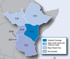 Карта за Garmin City Navigator Източна Африка NT