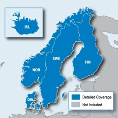 Карта за Garmin City Navigator Europe NT – Северните страни