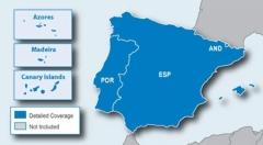 Карта за Garmin City Navigator Europe NT – Испания Португалия