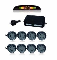 Парктроник с 8 датчика LCD дисплей и звукова сигнализация - ЧЕРЕН