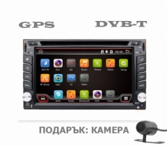 Универсална мултимедия с Android + ТЕЛЕВИЗИЯ + GPS + КАМЕРА UA62TV