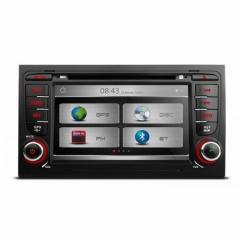 Мултимедия двоен дин за Audi A4/S4/RS4 PX71AA4 GPS, DVD, WinCE, 7 инча