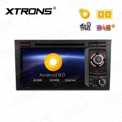 Двоен дин за AUDI A4 с Android 8.0, PB78AA4RP WiFi, GPS, 7 инча