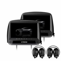 Подглавници с монитор за кола HD923D с DVD, HDMI вход, 9 инча + КАЛЪФ ЗА ЗАЩИТО ОТ КРАЖБА