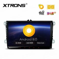Навигация двоен дин за SKODA Octavia, Fabia, Suberb с Android 8.0, PE98MTVPL, WiFi, GPS, 9 инча