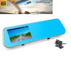 Огледало с видеорегистратор 4.3 инча + камера за паркиране AT BTK15L 2CAM FULL HD