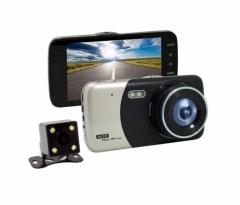 Видеорегистратор за кола с две камери AT BTK43 с 4 инча 12mpx + 16GB карта